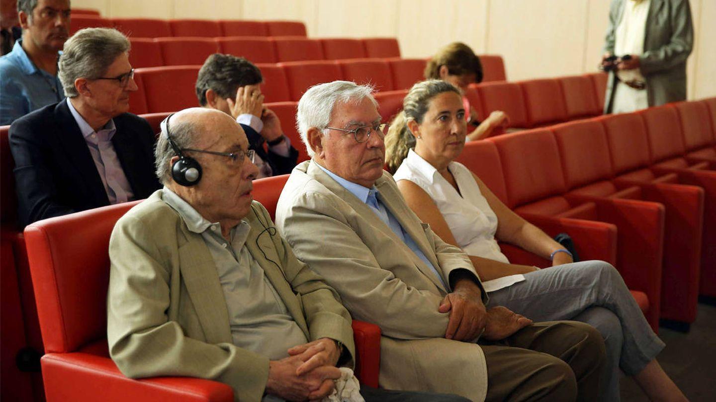 Fèlix Millet, Jordi Montull y Gemma Montull durante el juicio del caso Palau. (EFE)