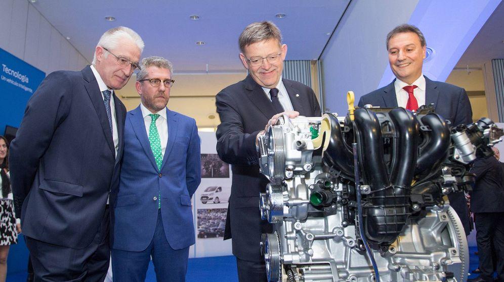 Foto: Ximo Puig, esta semana, en el acto del 40º aniversario de la planta de Ford en Valencia. (EFE)