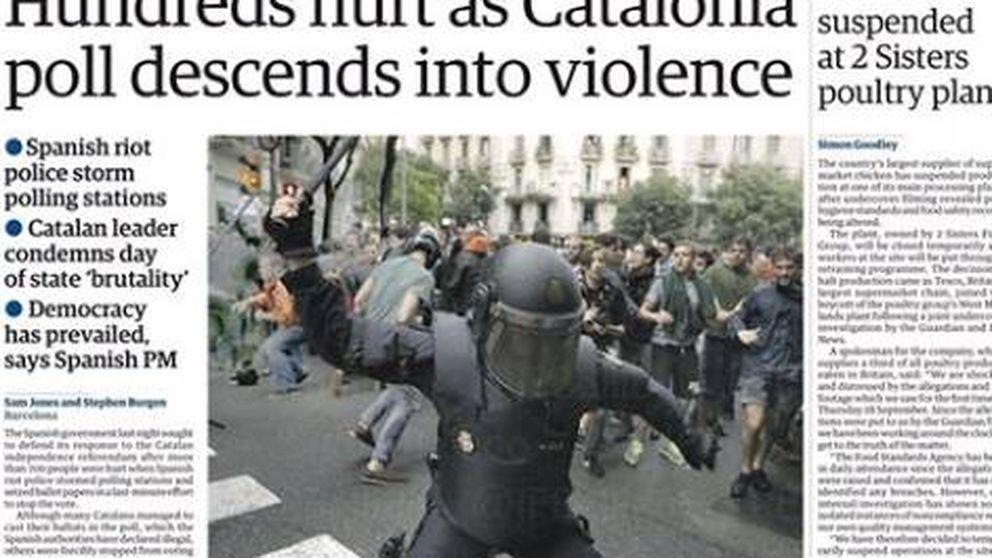 La prensa internacional habla de represión en el 1-O