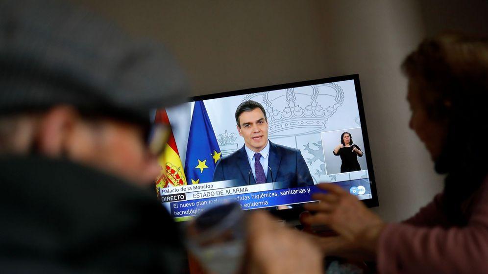 Foto: El presidente del Gobierno durante su comparecencia. (Reuters)