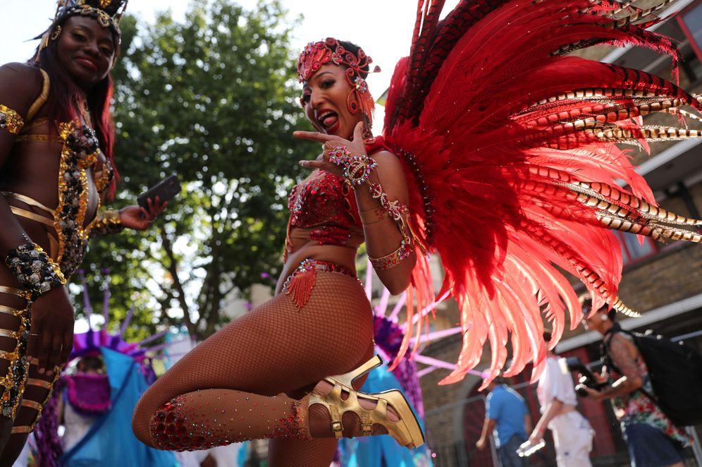 Foto: Participantes en el Carnaval de Notting Hill, en Londres, el 28 de agosto de 2016. (Reuters)