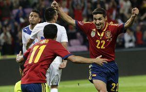 España arregla otro amistoso antipático con un gol en el tiempo añadido