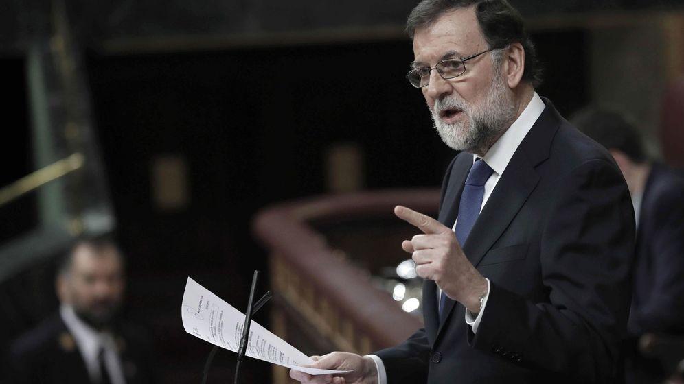 Foto: Mariano Rajoy, en un momento de su intervención en el Congreso de los Diputados. (Efe)
