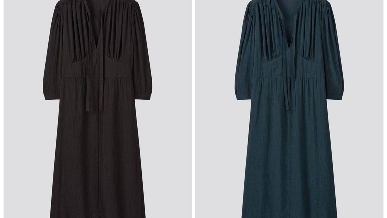 Vestido de la nueva colección de Uniqlo. (Cortesía)