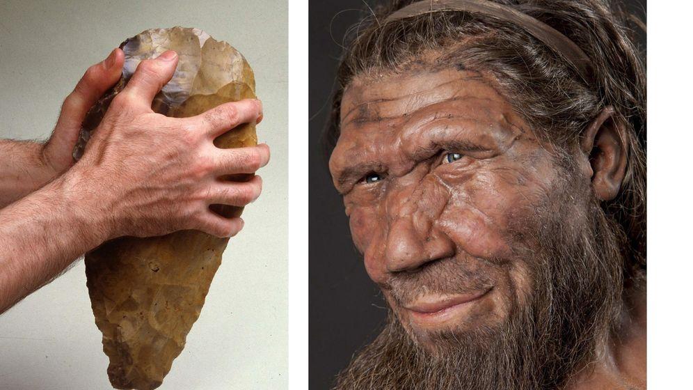 Foto: Reacreación de un neandertal. Foto: EFE