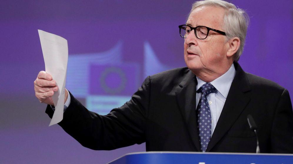 Foto: Última rueda de prensa del presidente de la Comisión Europea. (EFE)