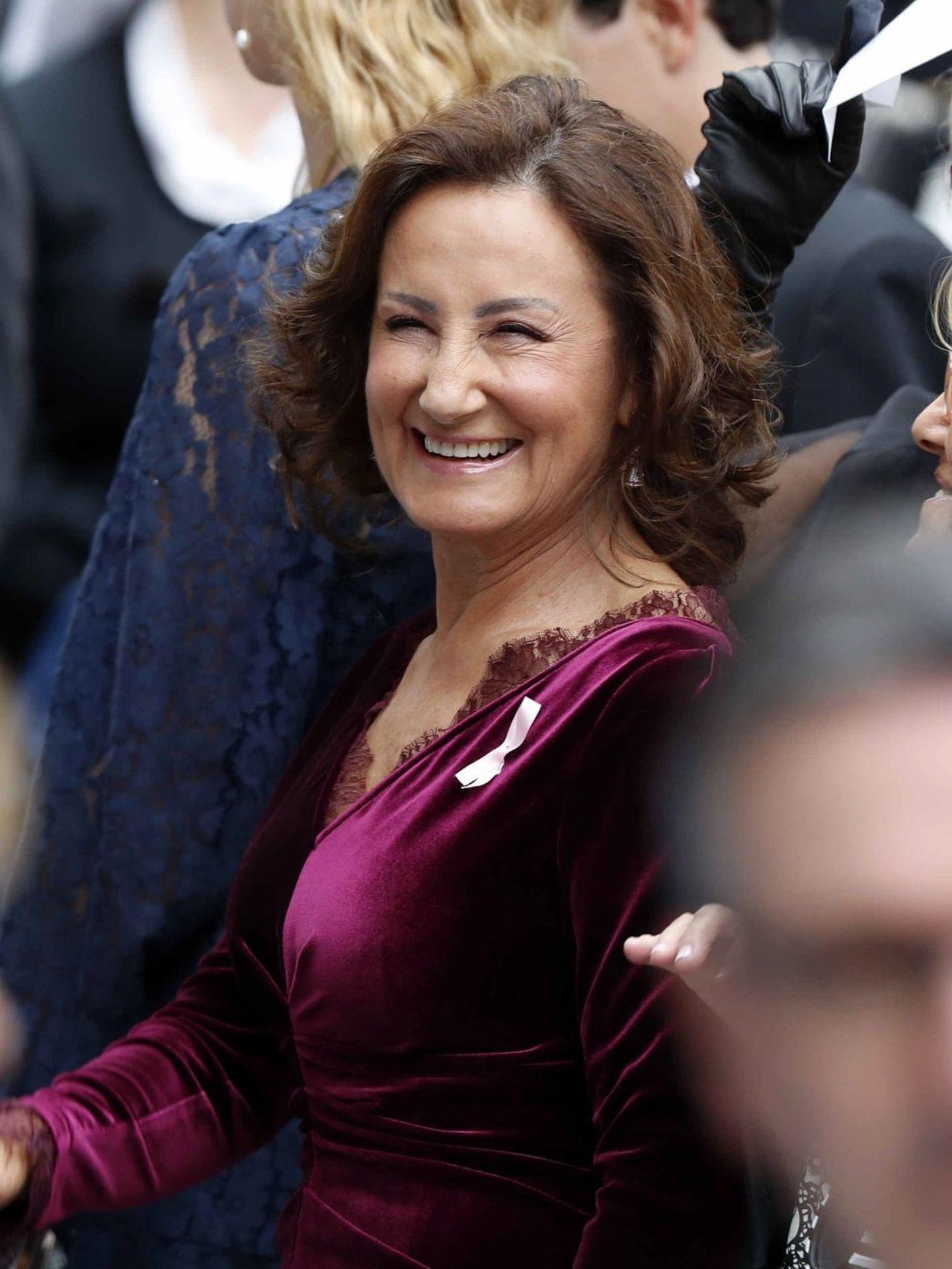 Paloma Rocasolano a su llegada a la entrega de los premios Princesa de Asturias 2019. (EFE)