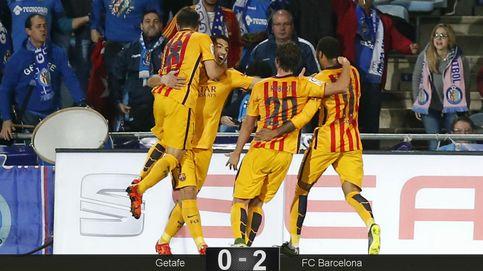 Sergi Roberto, la nueva estrella del Barcelona, lució en Getafe como Neymar
