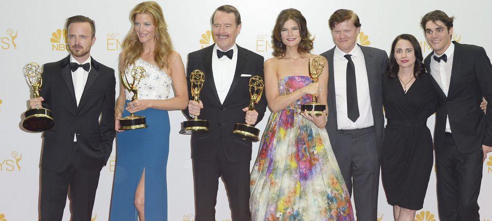 Foto:  Los integrantes del reparto de Breaking Bad (EFE)