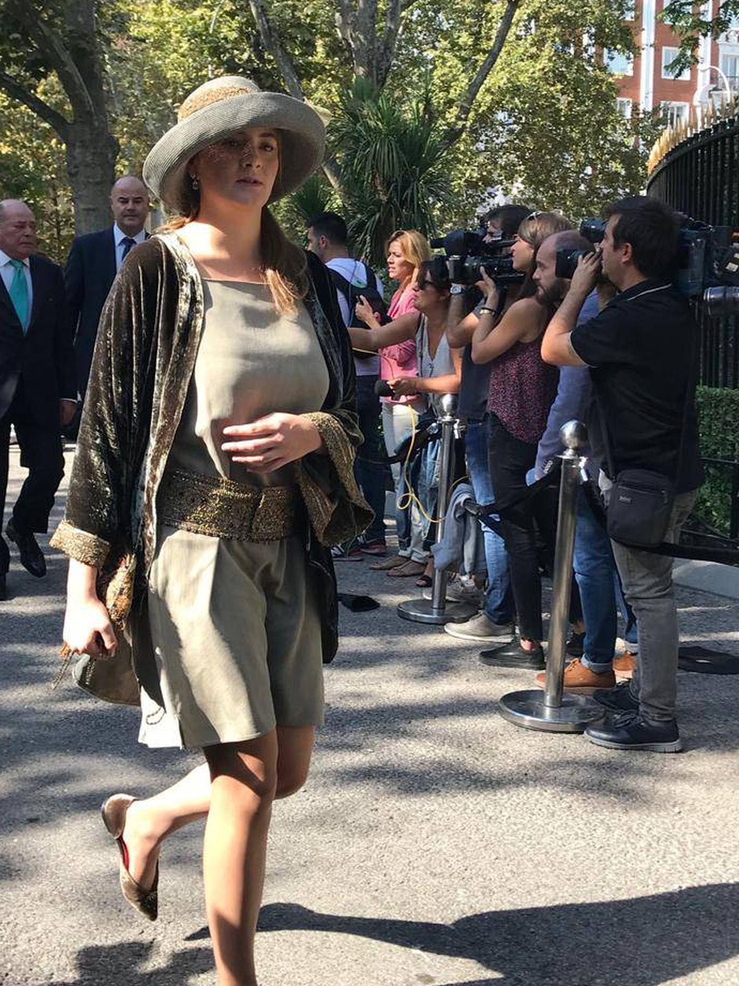 La duquesa de Medinaceli, a su llegada a Liria. (PI)