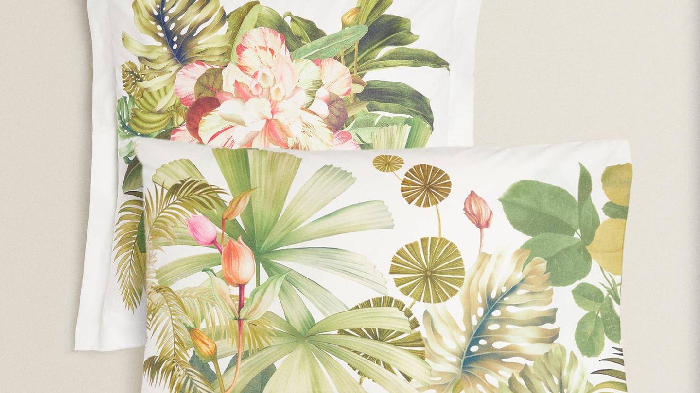 Diseños tropicales en Zara Home. (Cortesía)