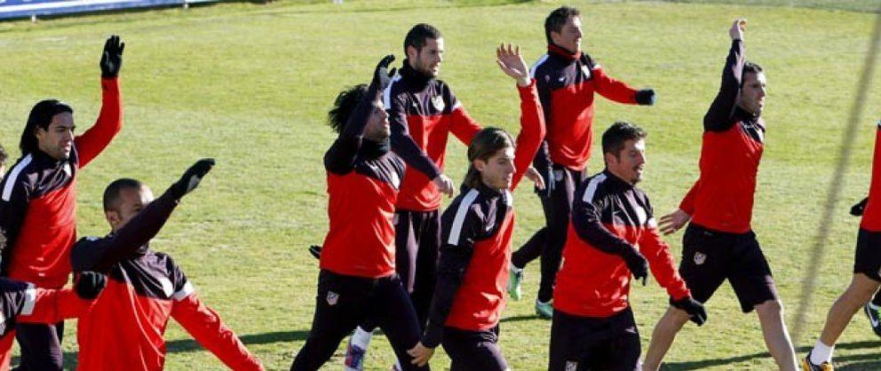 El Atlético se examina sin Falcao ni Arda, pero recupera a Filipe para asegurar la defensa