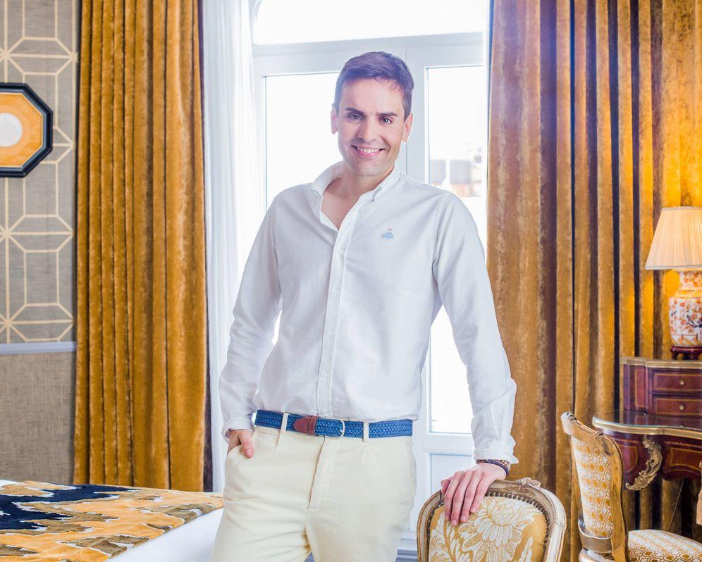 Foto: Gustavo Egusquiza en el hotel Heritage de Madrid. (Foto: Cortesía/Julieta de Zulueta)