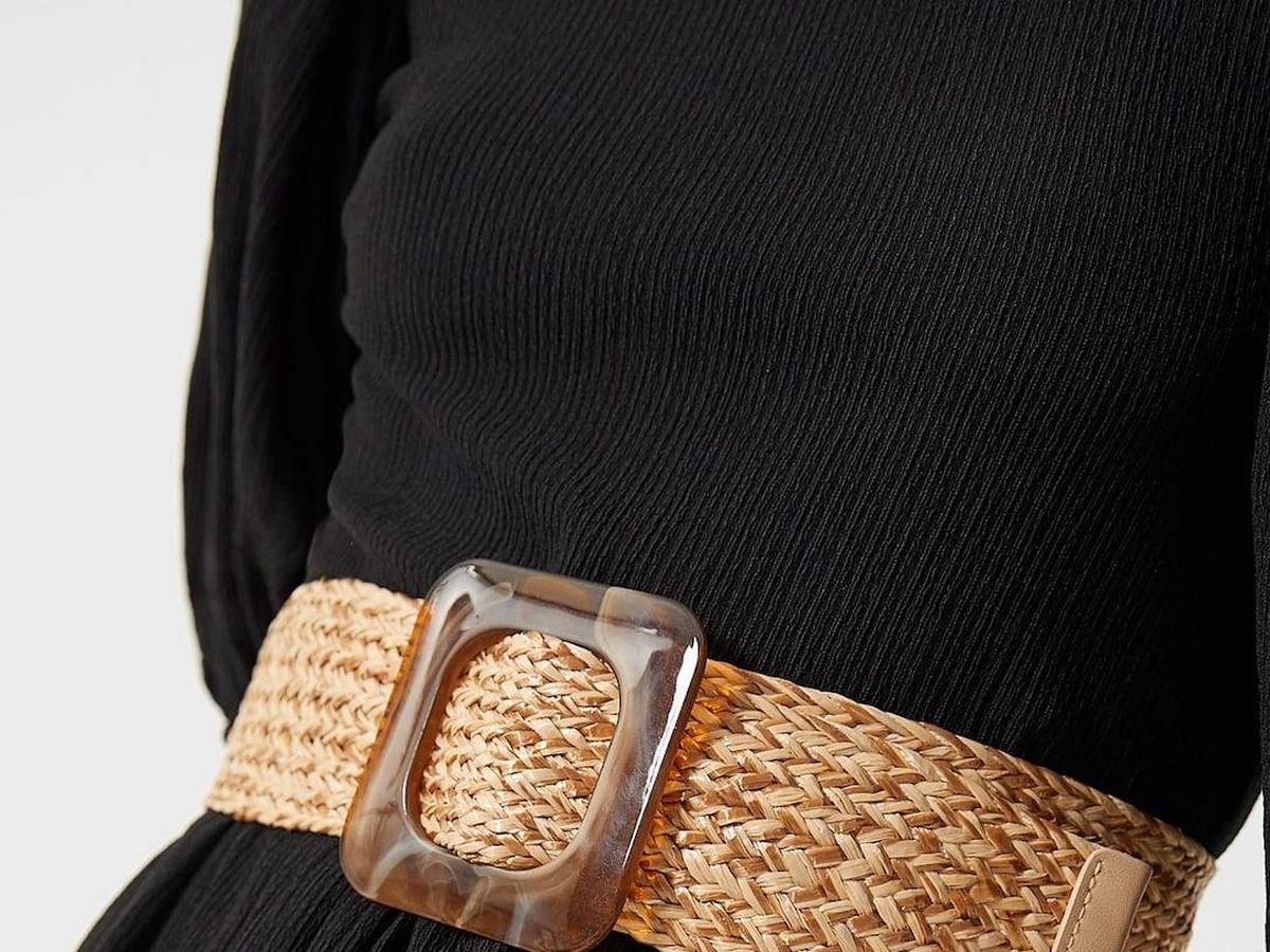 Foto: Cinturón de rafia de Stradivarius. (Cortesía)