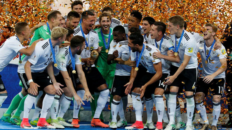 Alemania ganó la Copa Confederaciones de 2017 con un equipo lleno de jugadores jóvenes. (Reuters)