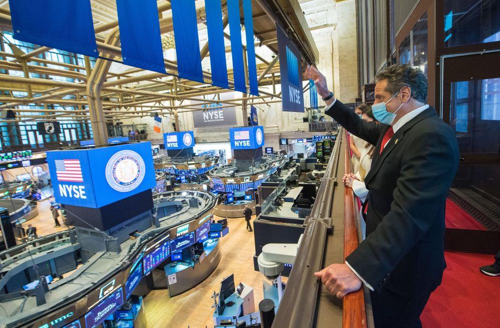 Foto: Wall Street, durante la pandemia. (EFE)