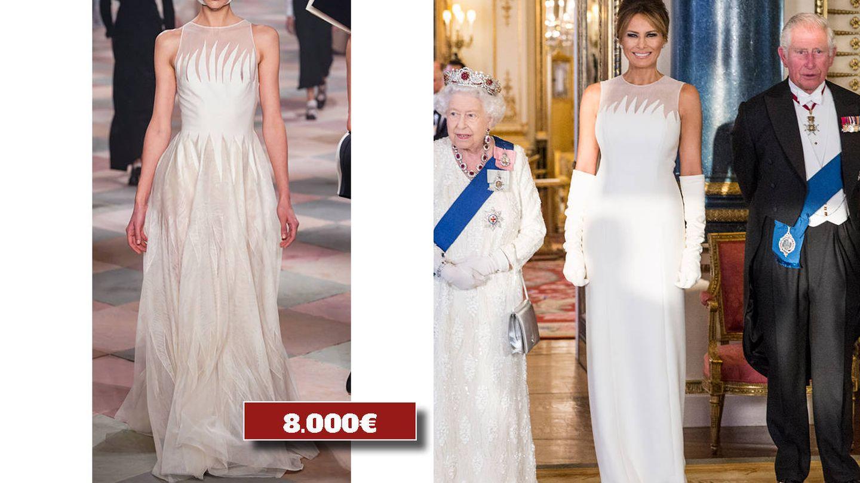 Vestido a medida de Dior. (Archivo)