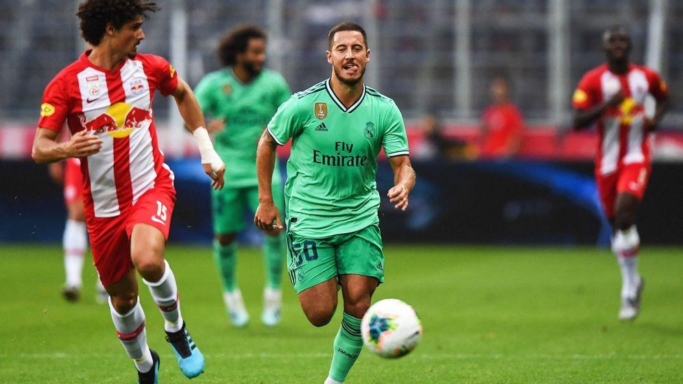 Foto: Eden Hazard, en un partido de pretemporada contra el Salzburgo. (EFE)