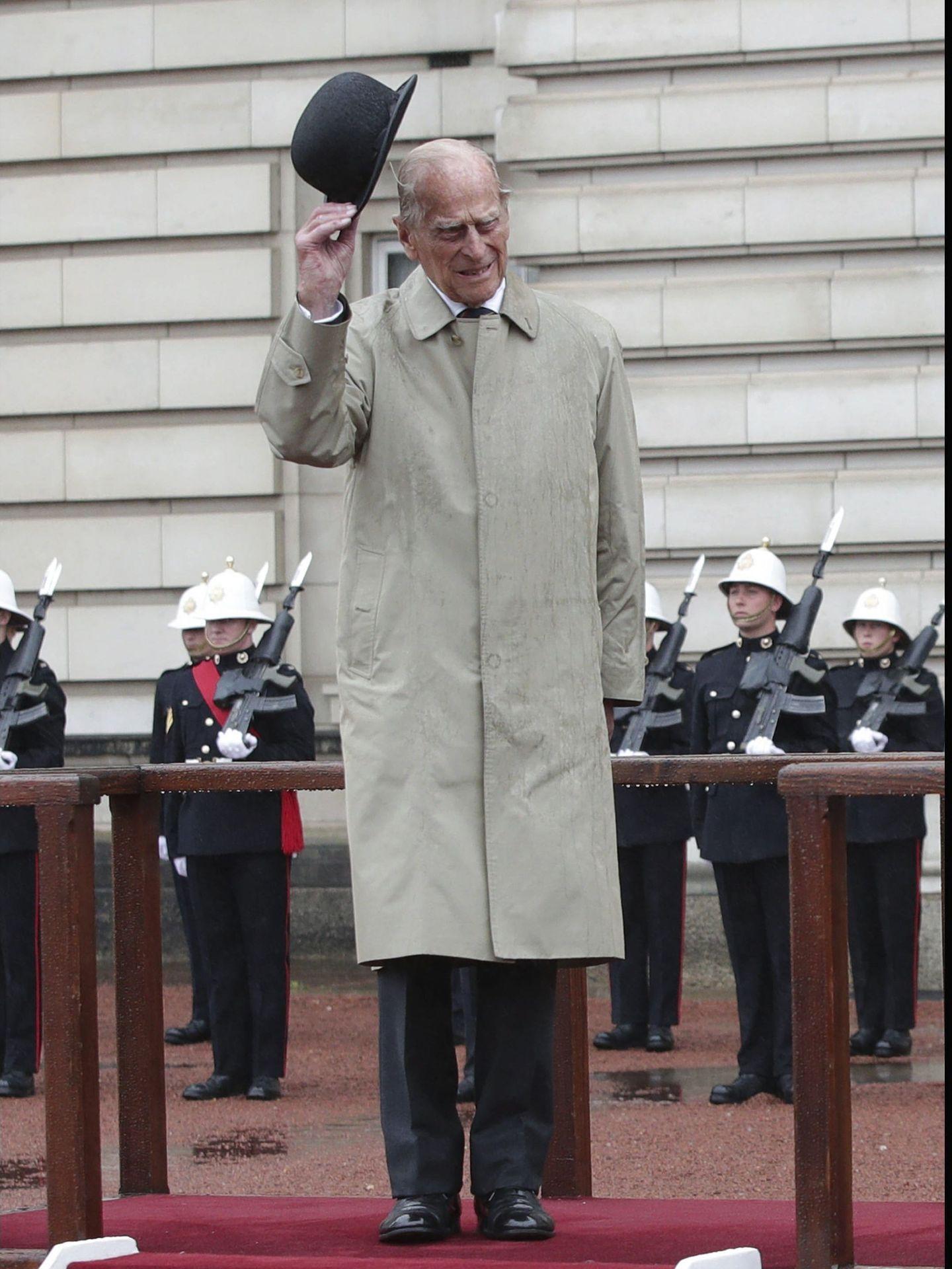 El duque de Edimburgo, en su último compromiso oficial. (EFE)