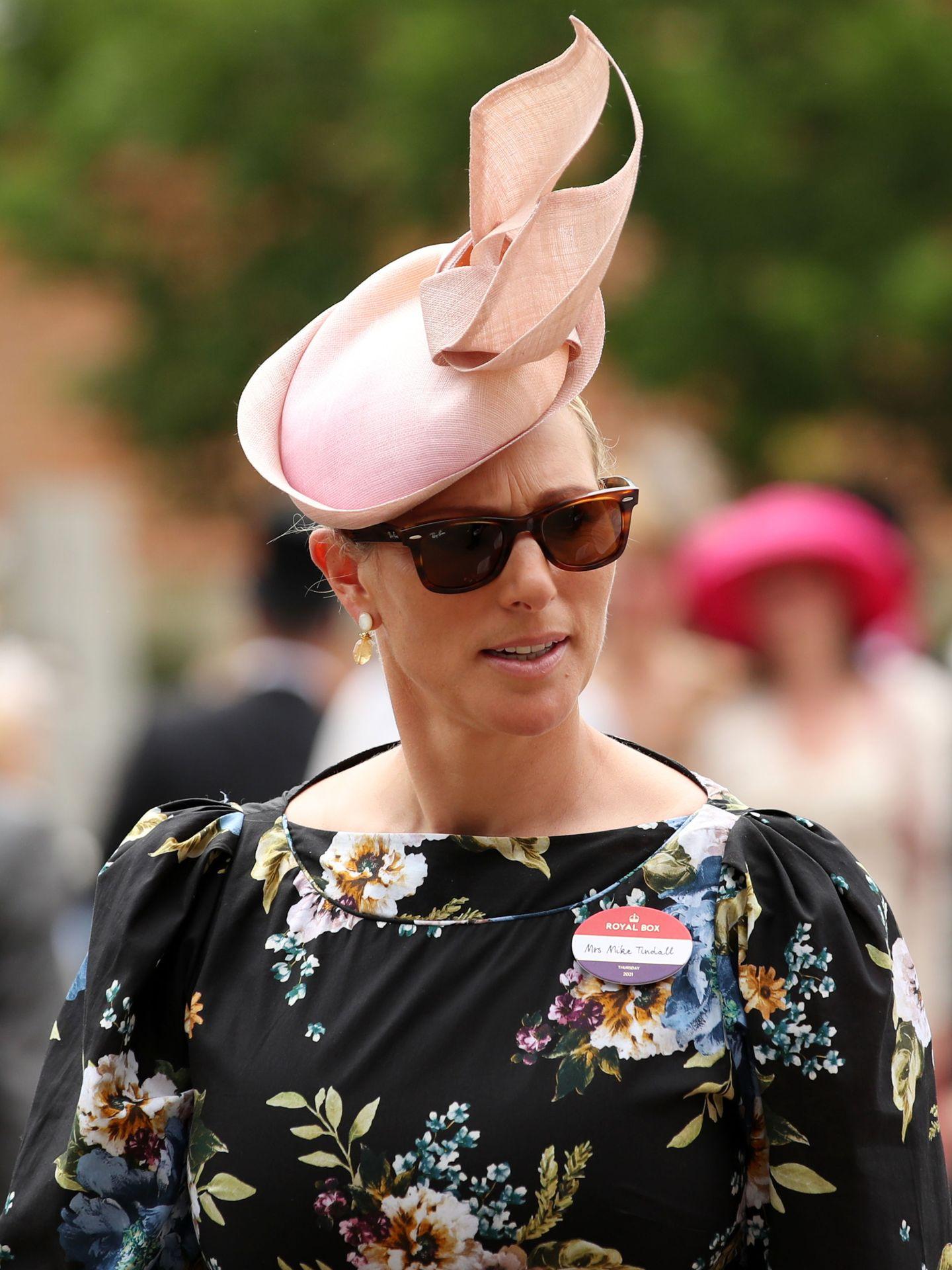 Zara Tindall, nieta de la reina Isabel II, el tercer día de Ascot. Reuters.