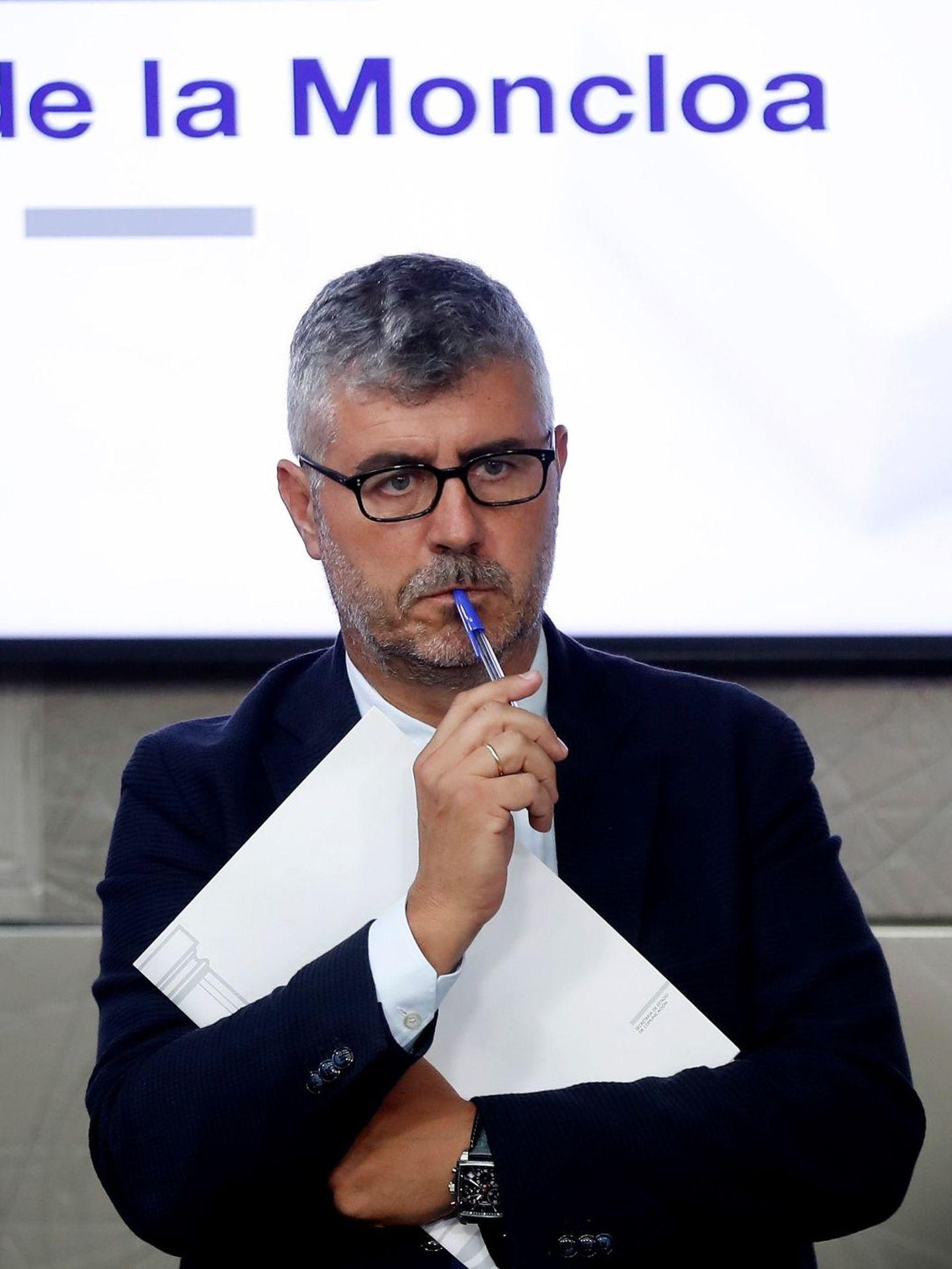 Miguel Ángel Oliver, en agosto de 2018 en la Moncloa. (EFE)