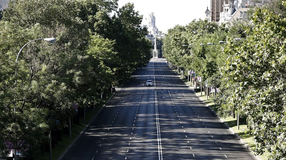 Foto: El Paseo de la Castellana, con la plaza de Colón al fondo. (EFE)