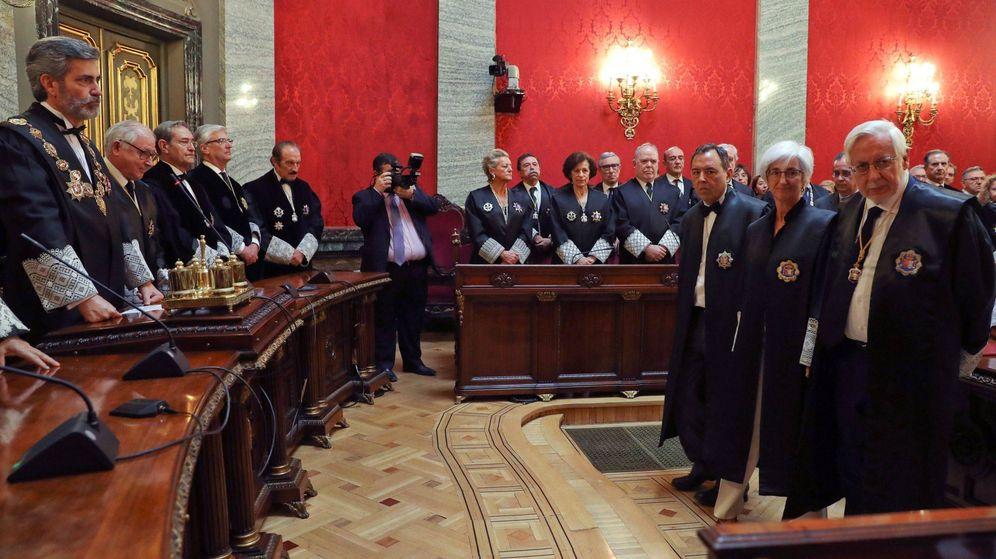 Foto: Un acto presidido por el presidente del Consejo General del Poder Judicial, Carlos Lesmes. (EFE)