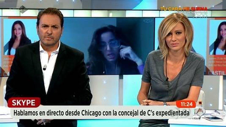Albert Castillón con Susanna Griso en 'Espejo público'.