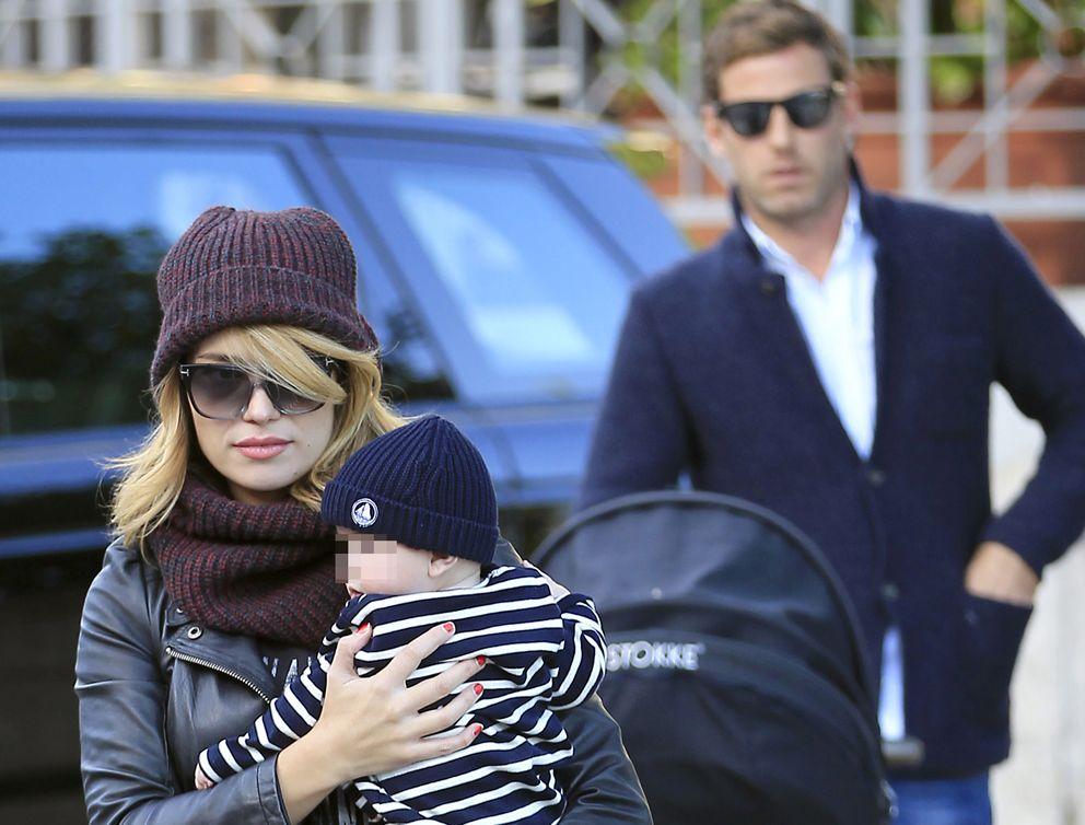 La pareja junto a su hijo Lucas (I.C.)