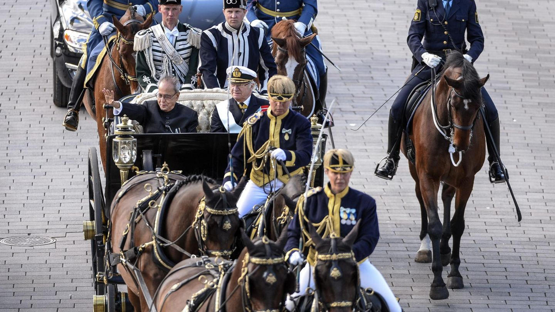 El paseo en carroza por las calles de Estocolmo. (CP)