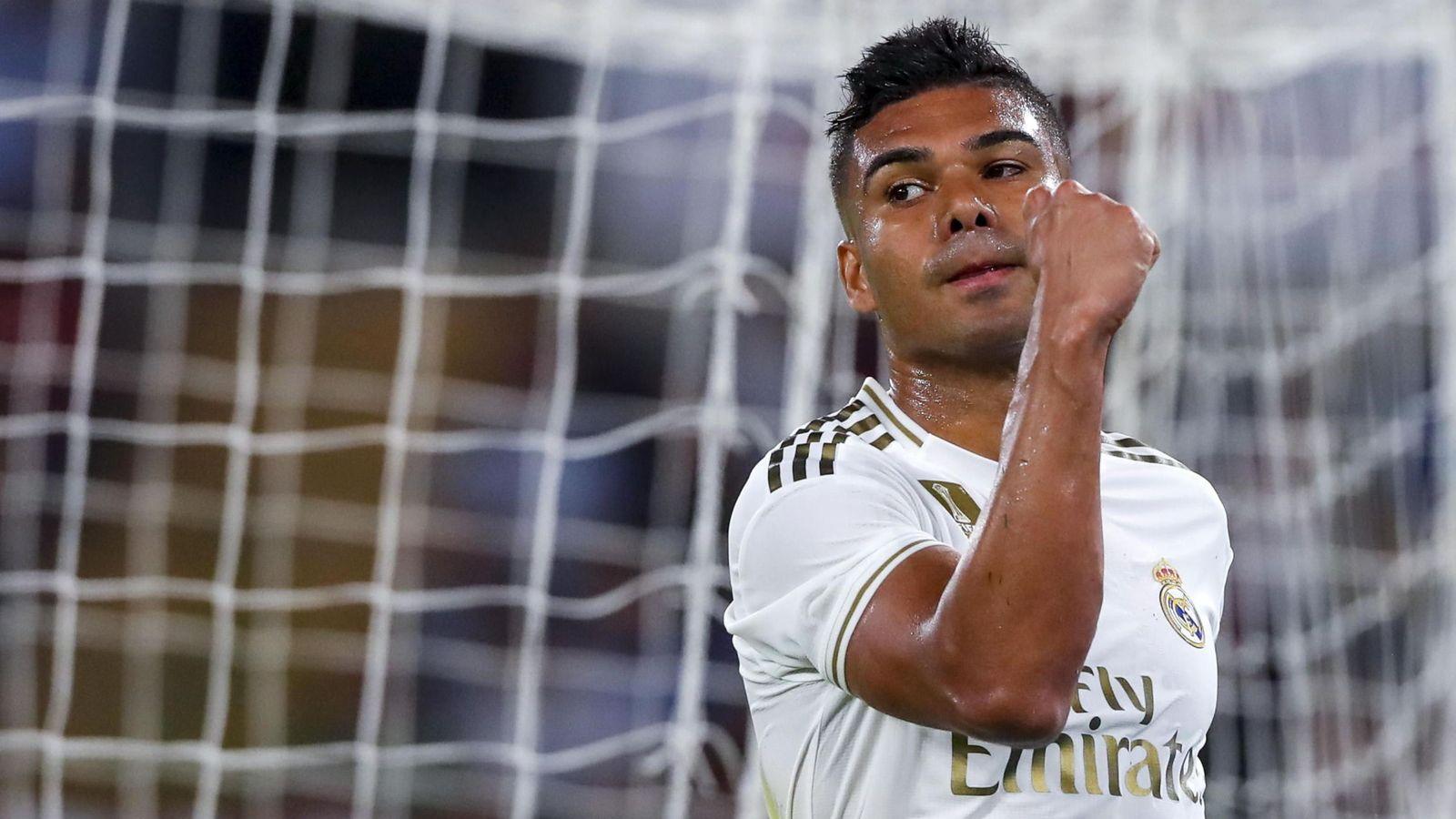 Foto: Casemiro, durante un partido del Real Madrid. (EFE)