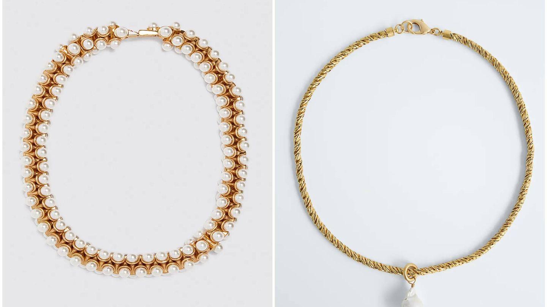 Collares de perlas de Zara. (Cortesía)