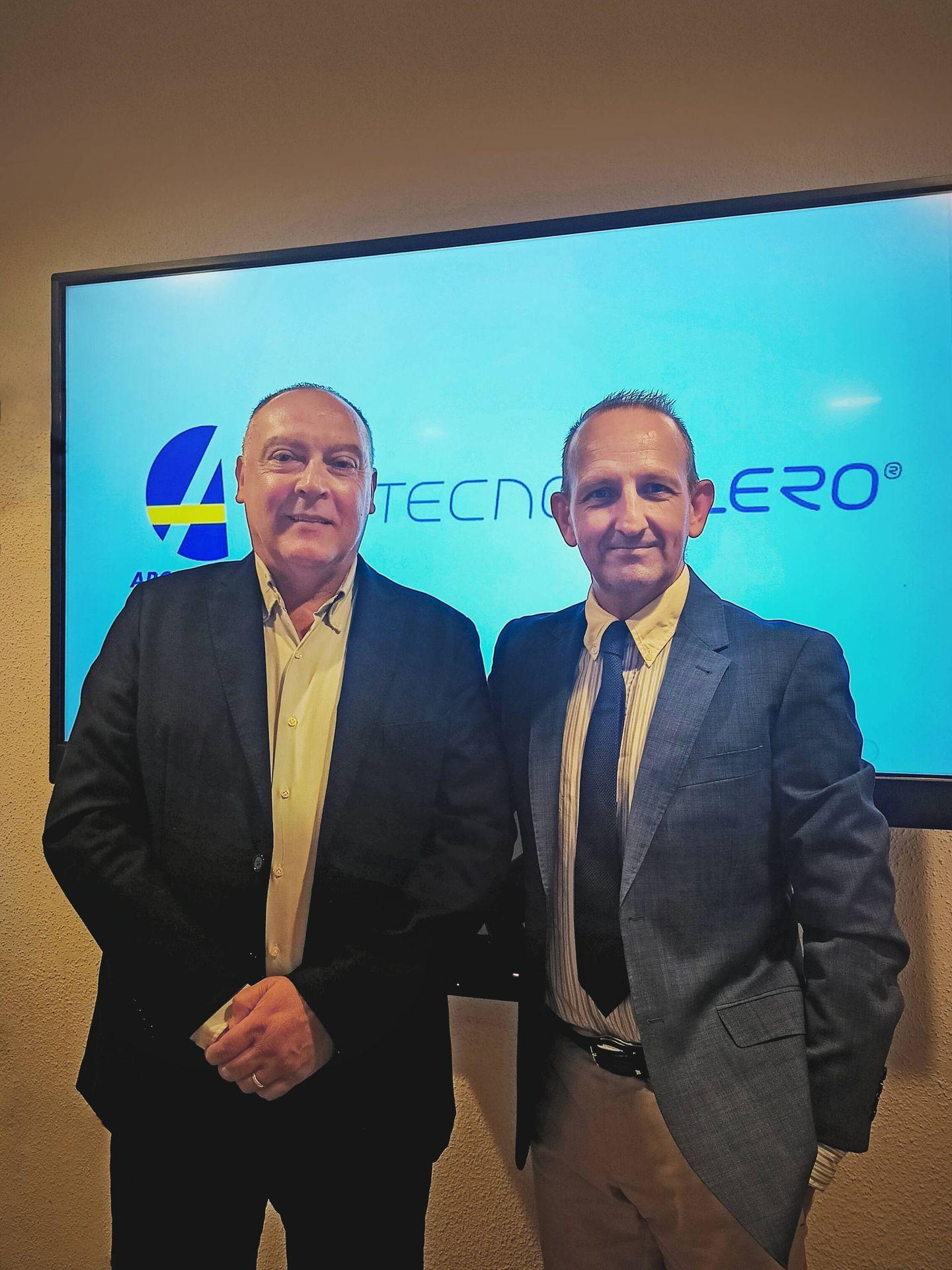 Javier Lavernia y Gerard Aragonés, máximos responsables de Tecnovelero y Arcamo Controls S.A. respectivamente
