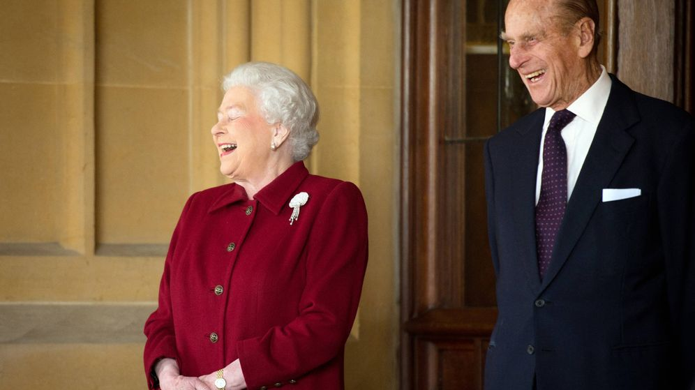 Foto:  La reina Isabel y su marido. (Getty)