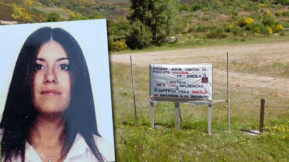 Foto: Sheila Barrero, junto al lugar donde fue hallada muerta dentro de su coche