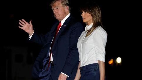 Melania Trump y su maleta de más de 63.000 euros regresan en jeans a casa