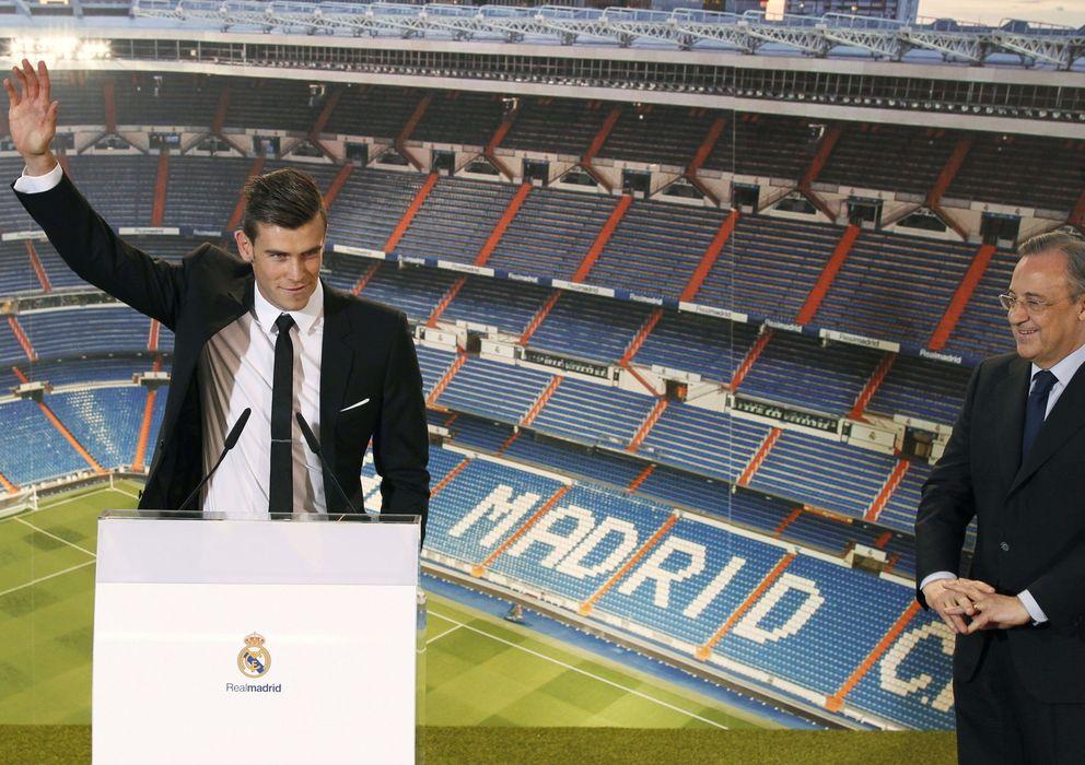 Foto: Florentino y Bale, en presentación del jugador galés.