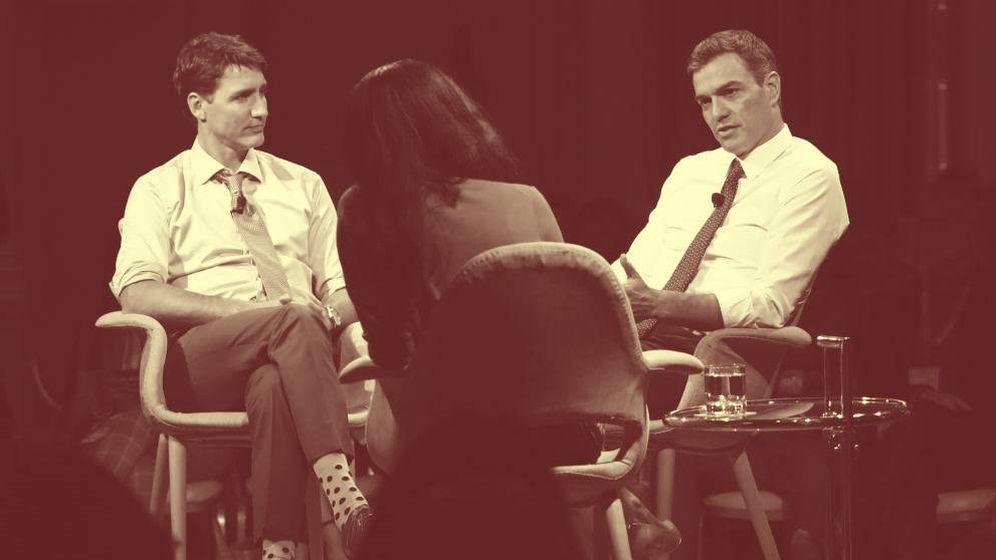 Foto: El presidente del Gobierno español, Pedro Sánchez (d), y el primer ministro canadiense, Justin Trudeau. (EC)