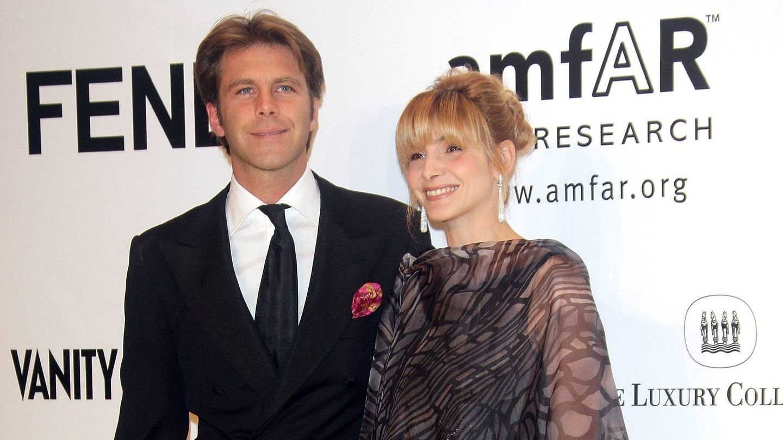 Emanuele Filiberto con su mujer Clotilde Courau. (Getty)