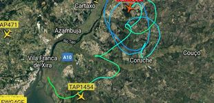 Post de A un avión le fallan los mandos en Lisboa y logra aterrizar gracias a dos F-16
