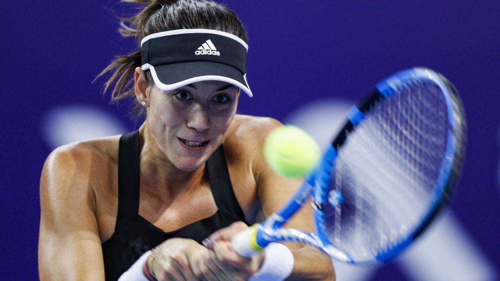 Foto: Garbiñe Muguruza está disputando el WTA Elite Trphy en Zhuhai (China).