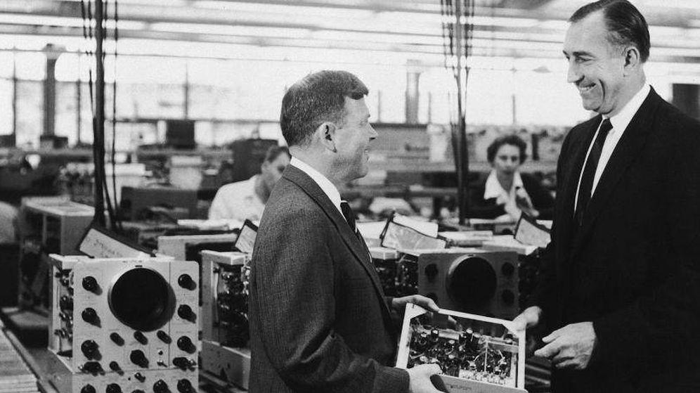 Foto: David Packard y William Hewlett, fundadores del primer gigante tecnológico de Silicon Valley (HP)