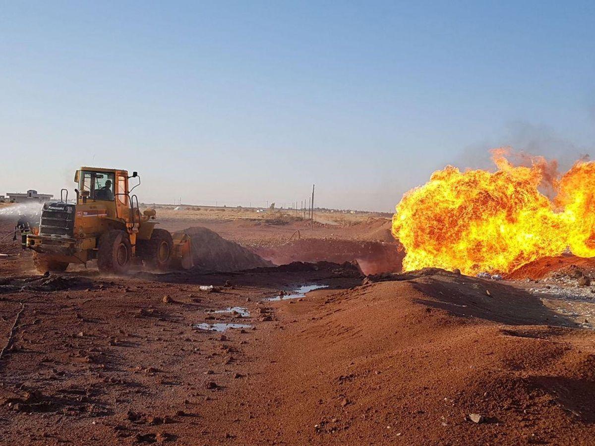 Foto: El metano es emitido por accidente a la atmósfera durante su extracción o transporte. Foto: EFE