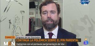 Post de Espinosa de los Monteros, acorralado en TVE a cuenta del pin parental