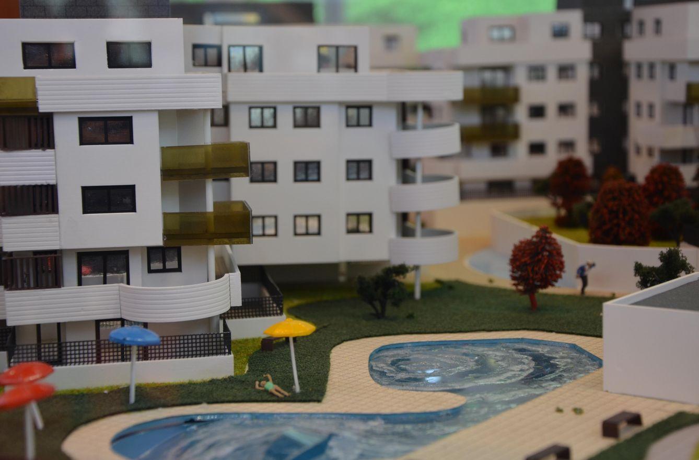 Foto: Imagen de la maqueta de una urbanización (Foto: Elena Sanz)