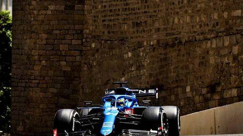 Fernando Alonso y los 'brotes azules' de Alpine, también con alerones flexibles
