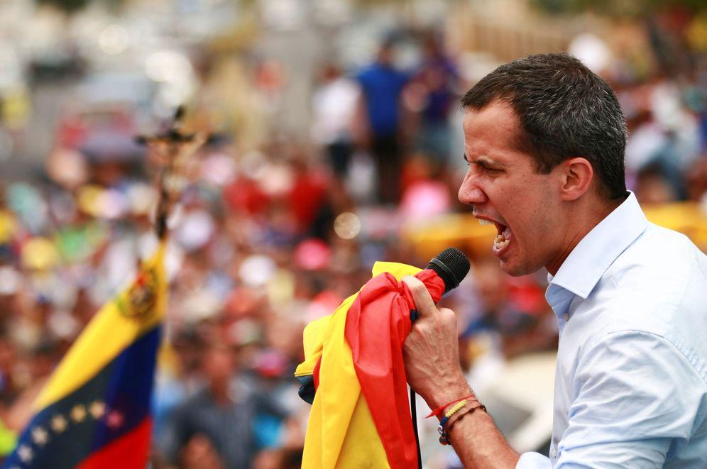 Foto: El líder de la oposición venezolana Juan Guaidó durante un acto en Cabimas, Venezuela. (Reuters)