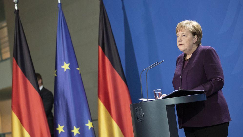 Foto: Conferencia de prensa de la canciller alemana, Angela Merkel. (Efe)