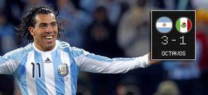 Foto: Argentina aplasta a México con ayuda arbitral