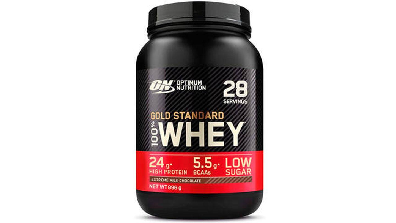 Whey proteína en polvo Optimum Nutrition.